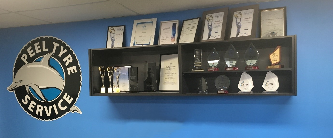 Our awards on display
